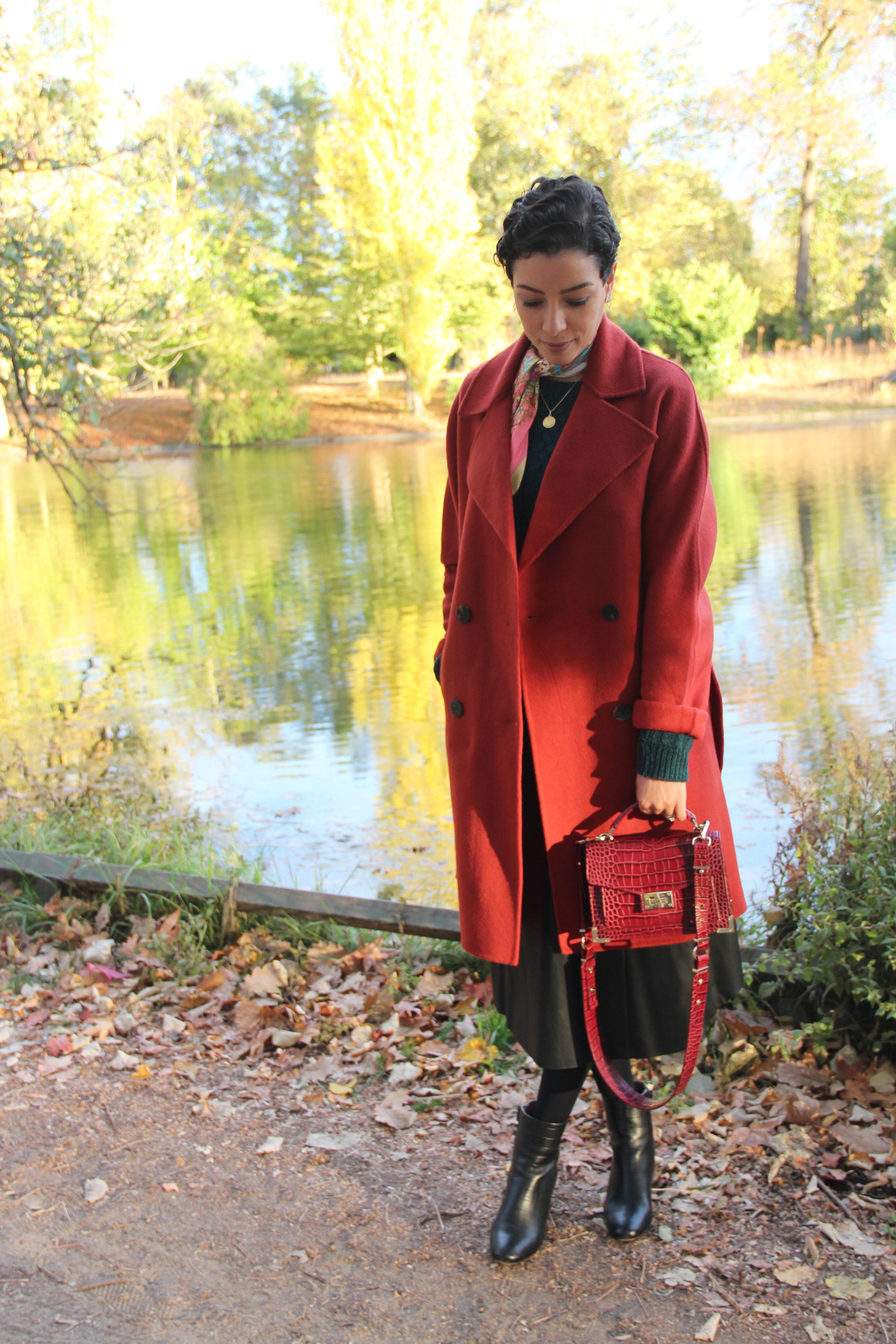 manteau sezane rouge
