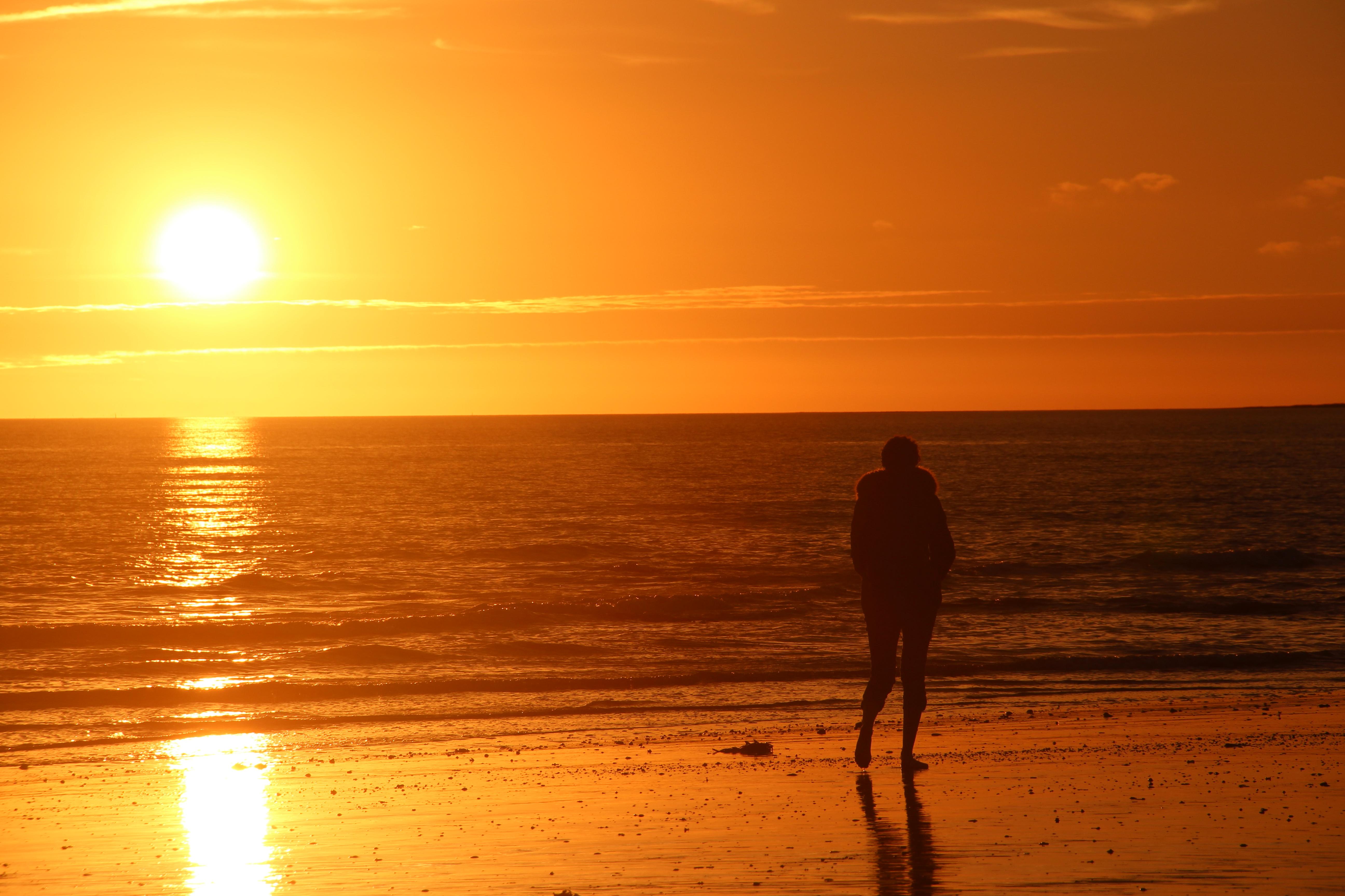 coucher de soleil a damgan bretagne